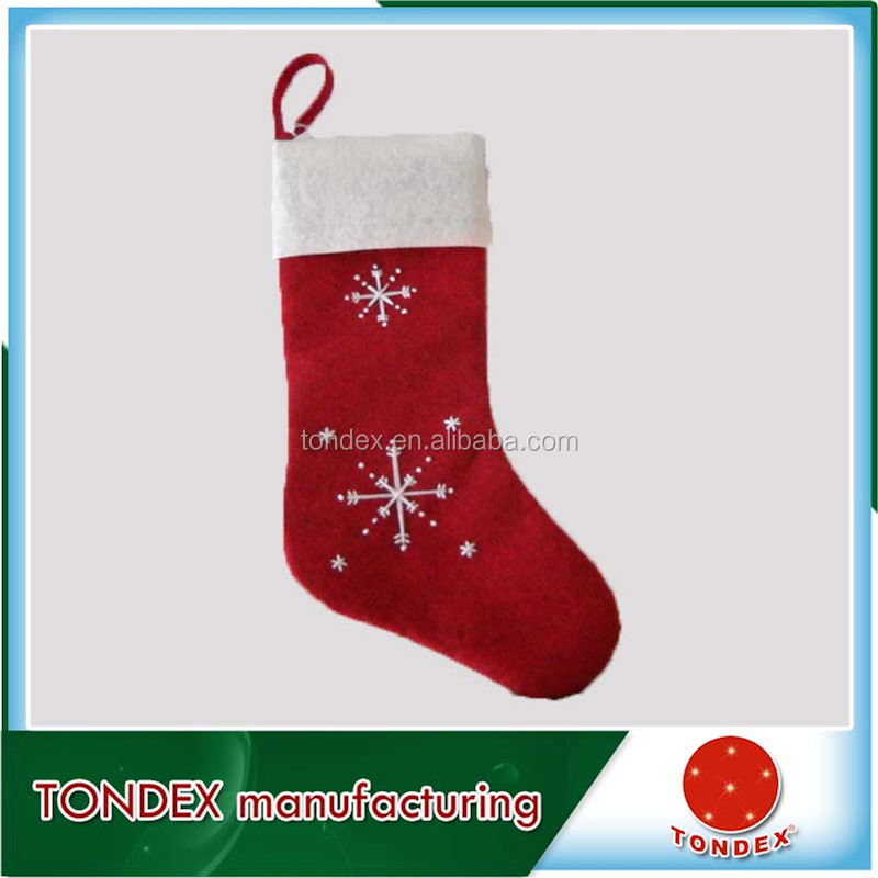 Hot Sale stocking custom promotional christmas decoration