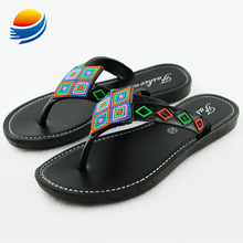 2017 New Arrivals Promotional African Maasai Style Kids Sandals 1J652+2W