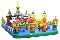 2015new cartoon animals inflatable castle for children