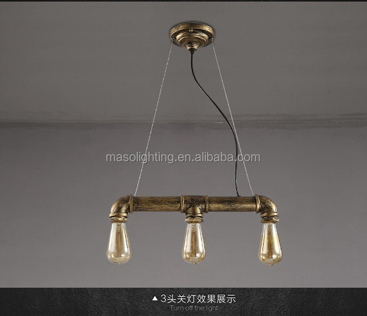Water Pipe Pendant light Antique Finish Pendant lamp Industrial style Pendant light fixture MS-P6104