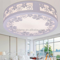 Simple flat glass led ceiling light indoor, star ceiling projector night light