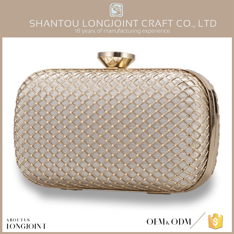 Promotional polyester clutch bag women evening hard case