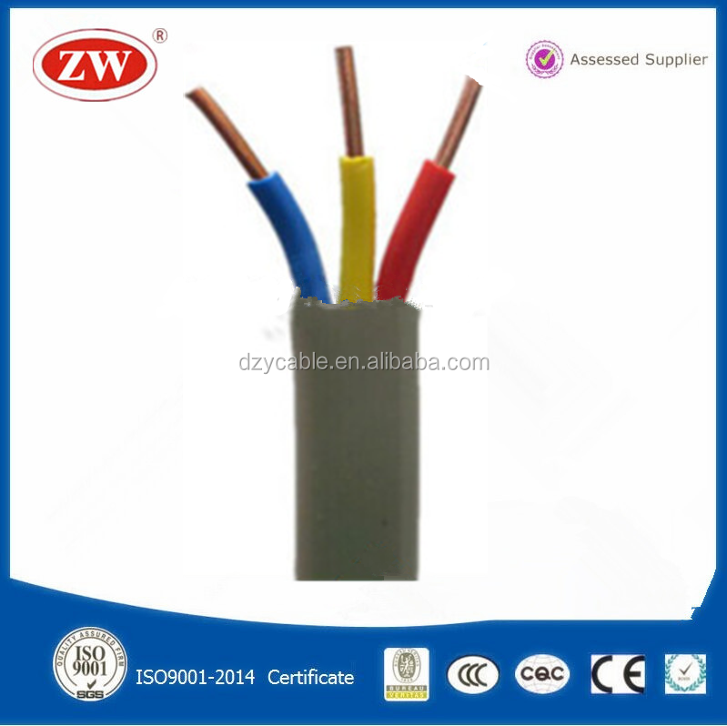 ul certification low voltage high quality multi core pvc electrical flat cable