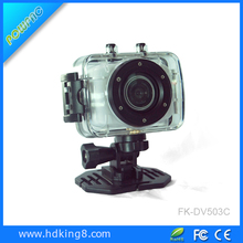Portable 720P HD Sport Action DV Camera Underwater Waterproof Camcorder 5MP Cam for Diving/Surfing/Ski/Bike/Car 2' Touch Screen