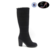 Black women high heel shoes women's boots
