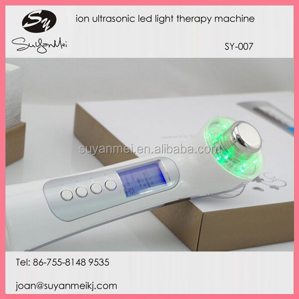 home use portable 5 in 1 ion galvanic photon therapy ultrasonic facial beauty device