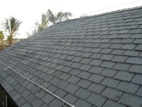 Top grade own quarry natural black slate clay roof tiles