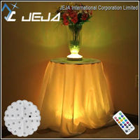 RF remote Rechargeable battery LED Martini Glass Vases Light for Table Centerpiece