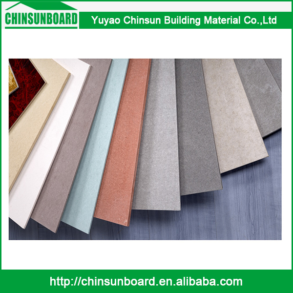 CE certificated Tested Waterproof Finely Processed Use Uv Coating Fiber Cement Siding For Decorative Interior Wall Board