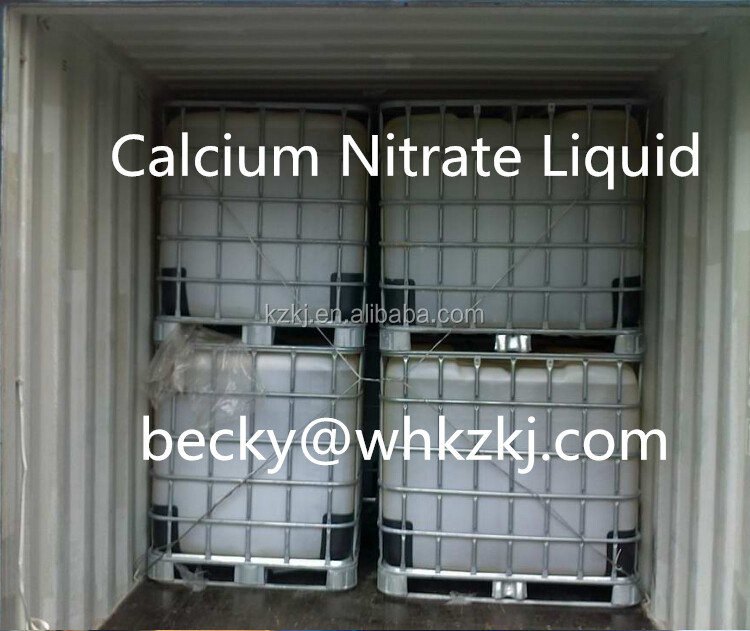 Water Soluble Nitrogen Fertilizer Calcium Nitrate Ca(NO3)2 Liquid Solid