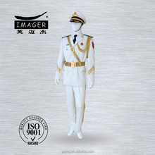 White army navy military uniform for officers with epaulette