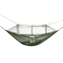 Outdoor Portable Hammock Swing For Hiking Travel Adventure Camping Hamaca Durable Safety hammock with mosquito net