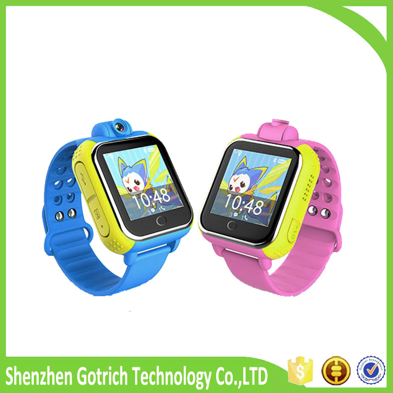 newest quadband realtime tracking watch handphone 3G children watches oem gps smart watch
