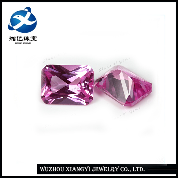 Nicely Princess Cut Untreated Ruby Rough Prices 7x9mm Beautiful African Ruby Synthetic Corundum