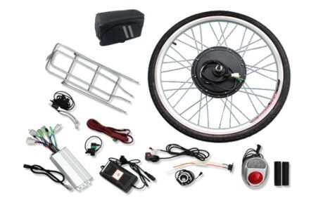 "48V1000W 26"" Front Wheel Electric Bicycle Hub Motor Speed Control Conversion Kit"