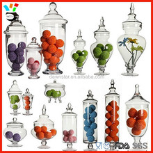 Inexpensive Price European Exquisted Shape Large Glass Apothecary Jars / Glass Candy Jars Wholesale
