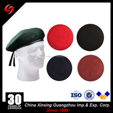 wholesale 100% wool 80gram navy blue colorcustom embroidered beret military beret