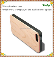 High quality blank wood and harden plastic cell phone cases for iphone 5s back cover for 6 plus wooden cover