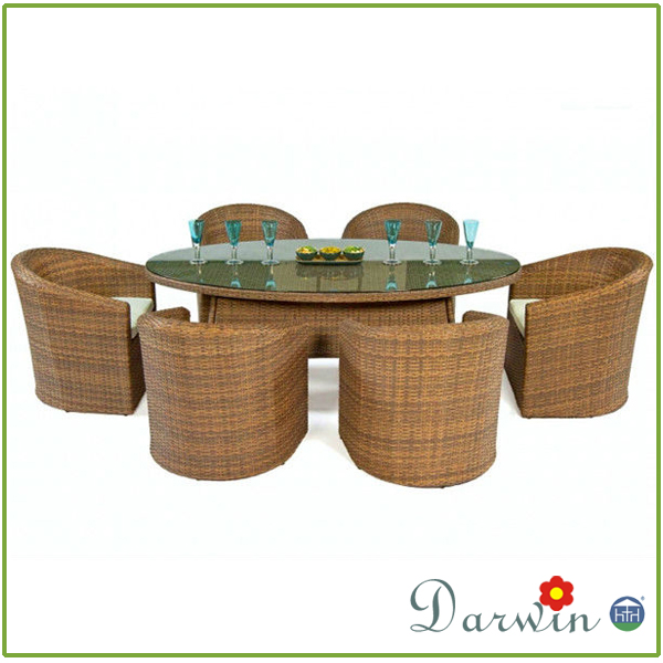 Classic outdoor dining sets rattan garden furniture oval
