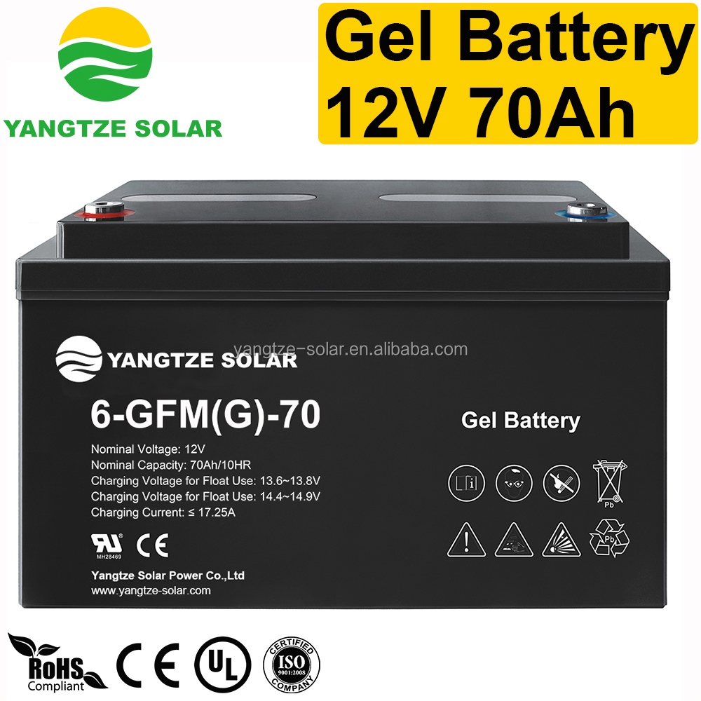 CE ISO UL approved 12v 70ah battery
