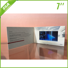 factory supply audio 7 lcd video greeting cards with 1GB
