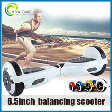 factory sale 6.5inch two wheel smart balance electric scooter/i hawk 2 wheel electric scooter self balancing