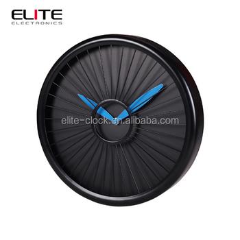 New Design Iron Decorative Round Jet Engine Wall Clock