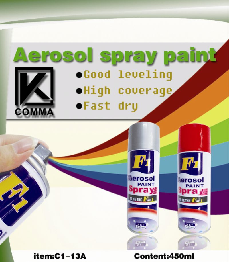 Arylic aerosol red heat resistant spray paint