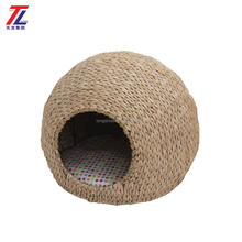 Wholesale Straw Woven Natural Cat House Cat Nest