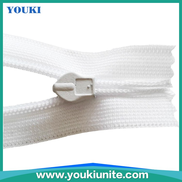Hot selling 3# lace tape invisible zipper with waterdrop puller YKN-2024