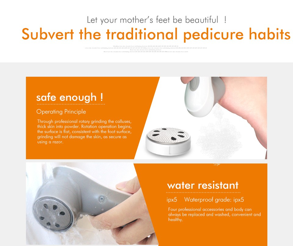 4 in 1 electric dead skin remover callus remover with 4 optional heads professional pedicure