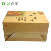Hot Sale Professional Printed Logo Clamshell Corrugated Thin Cardboard Boxes
