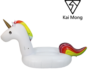 Fun Leisure Outdoor Summer Swimming Pool Party Giant Large Floatie Ride Rainbow Horse Pegasus Flamingo Inflatable Unicorn Toy