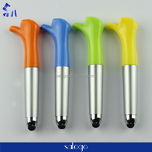 Retractable finger gesture plastic ballpoint touch pen cheap price