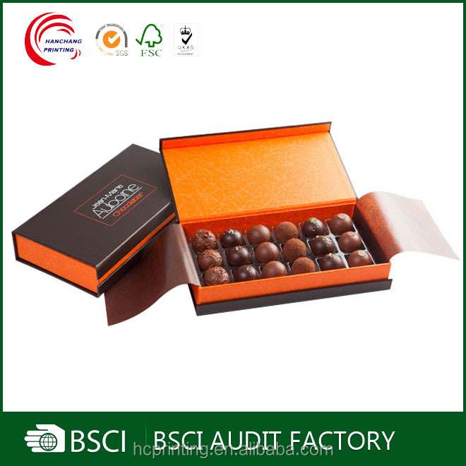 FDA Audit Supplier wholesale logo printed chocolate packaging box