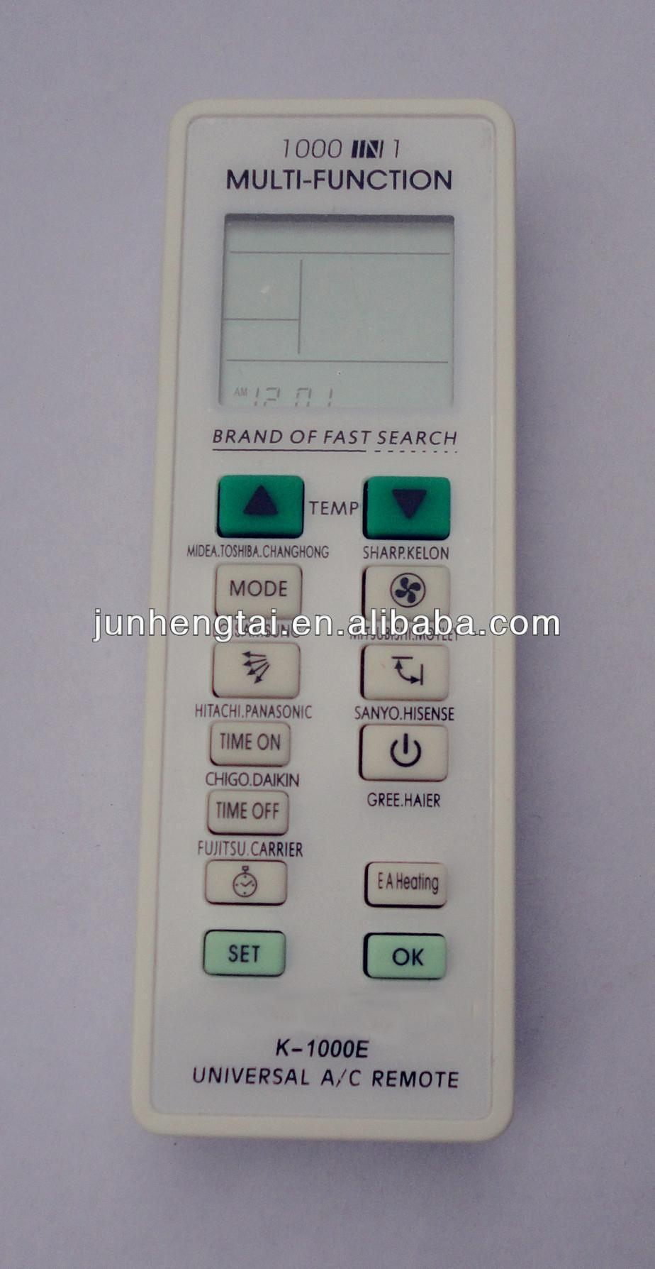 codes for universal remote for air conditioners