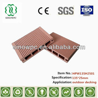 Sinowpc cheap waterproof outdoor composite decking material wpc decking