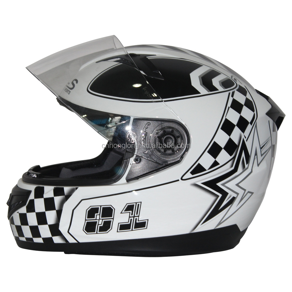 fashion design Motorcycle helmet with single visor---ECE/DOT Certification Approved