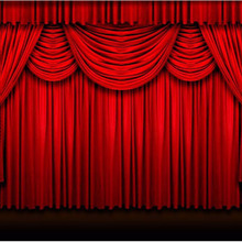 motorized decorative red theatre flame retardant stage curtain