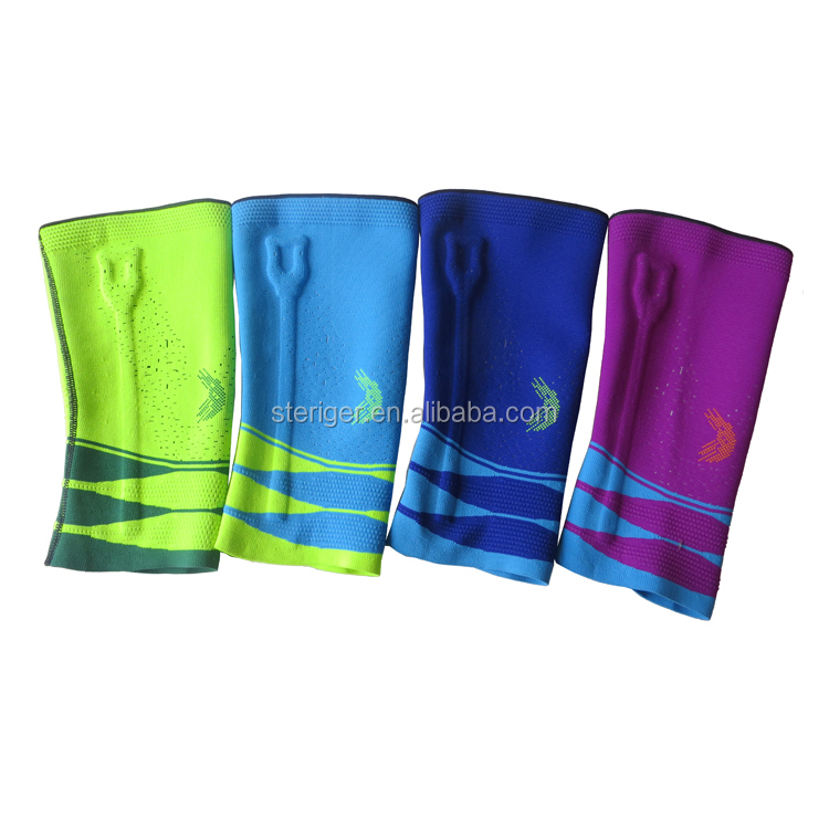nylon spandex material high quality knee sleeve for sports