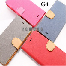 New Wallet Card Holder Flip Leather Case Silicone Stand Cover Case Cell Phone Skin for LG Optimus G4