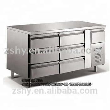 Stainless Steel Drawer Type Refrigerator