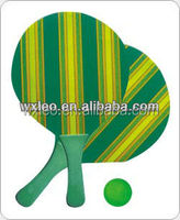 Beach Rackets and Ball Set, Available in Heat-transfer Printing Logo, OEM Orders are Welcome