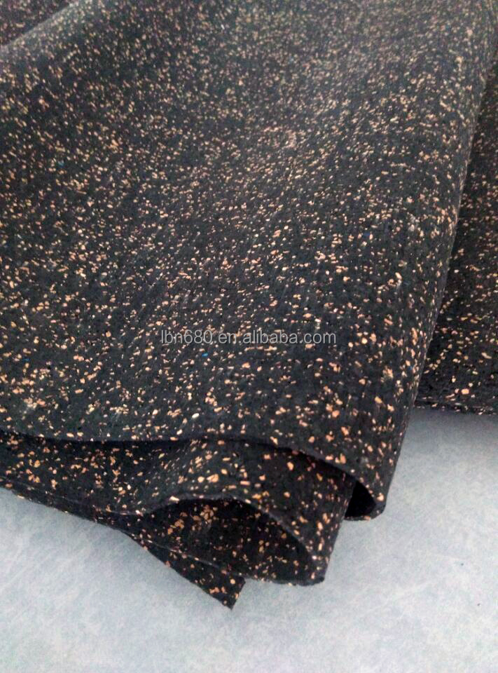 5mm/10mm thick anti-vibration acoustical rubber cork flooring underlayment
