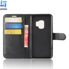 Best selling wholesale high quality PU leather wallet flip cell phone case for Samsung Galaxy S9 cover