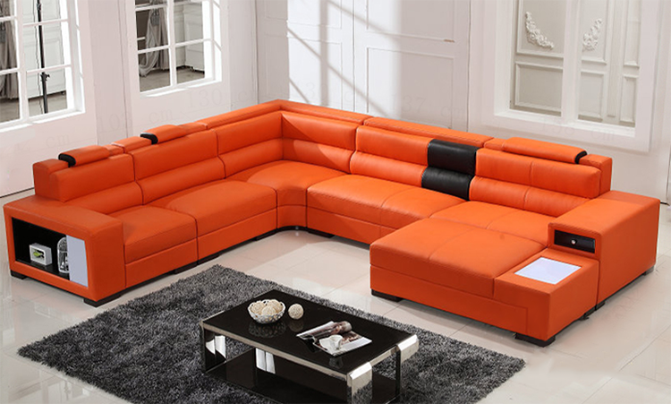 new style genuine leather furniture living room sofa set
