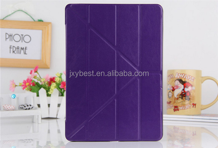 Slim Ultra Thin luxury folio smart case for ipad air ipad 5 with transformer stand comfort view