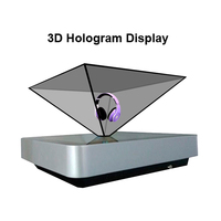 Customize shape OEM portable advertising hologram 3d display with full HD Resolution