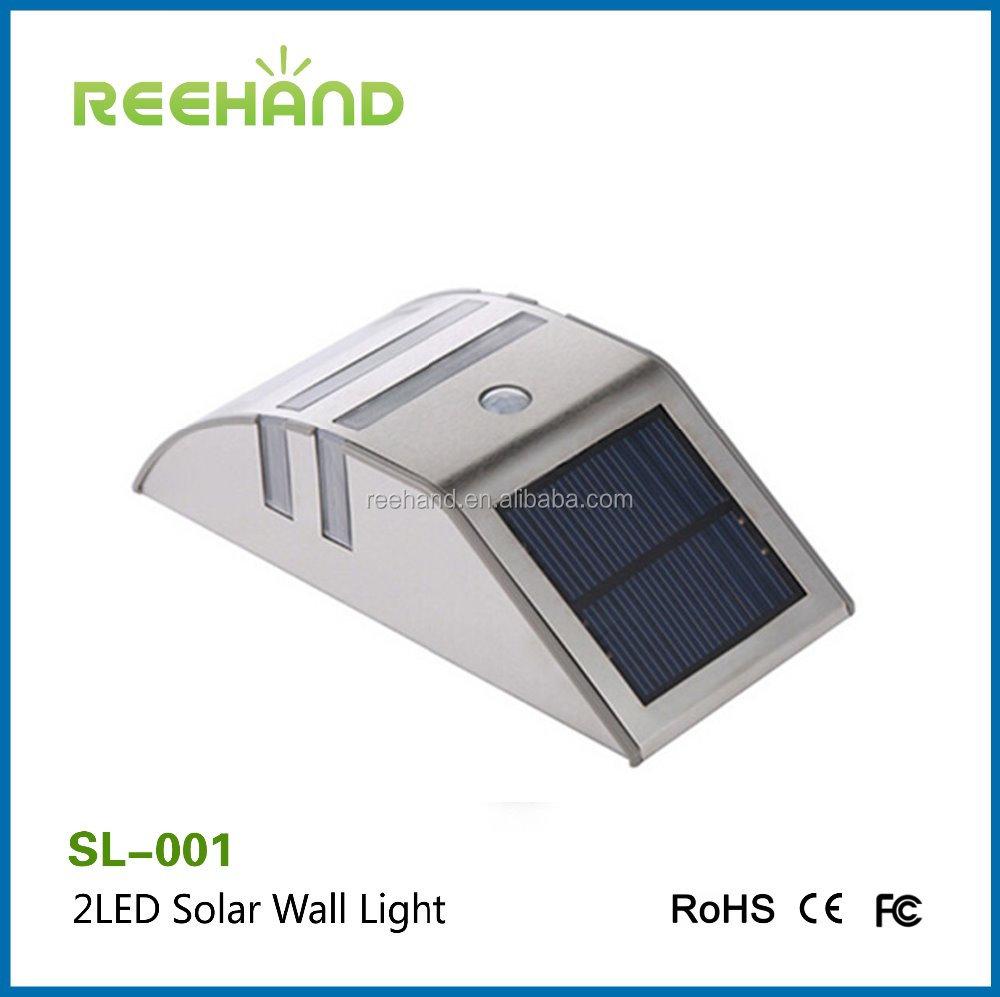 Iluminaci n solar powered outdoor 2 bombilla led light - Iluminacion solar exterior ...