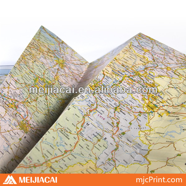 fabulous folded map printing service in China